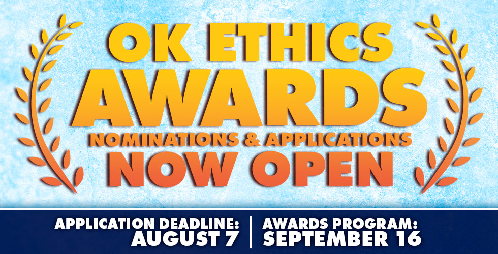 Now Accepting Nominations for OK Ethics Awards
